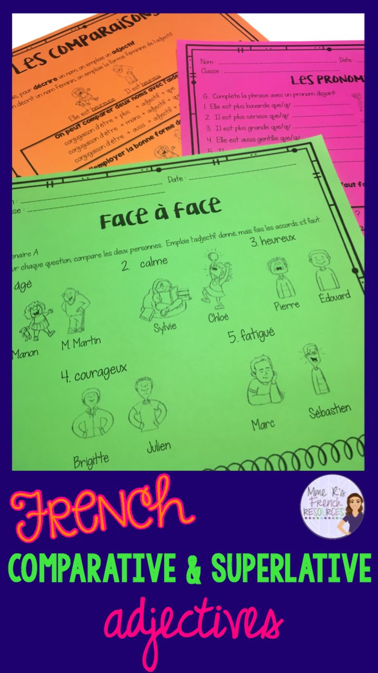french comparative and superlative pdf