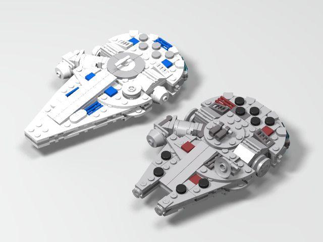 lego millennium falcon instruction run