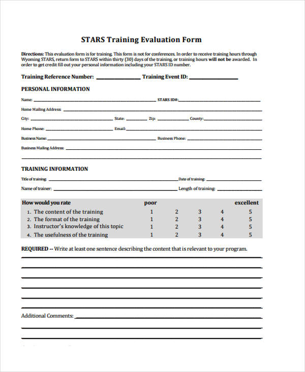 event evaluation pdf