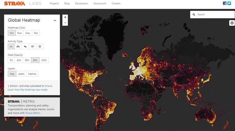 heat map for web application