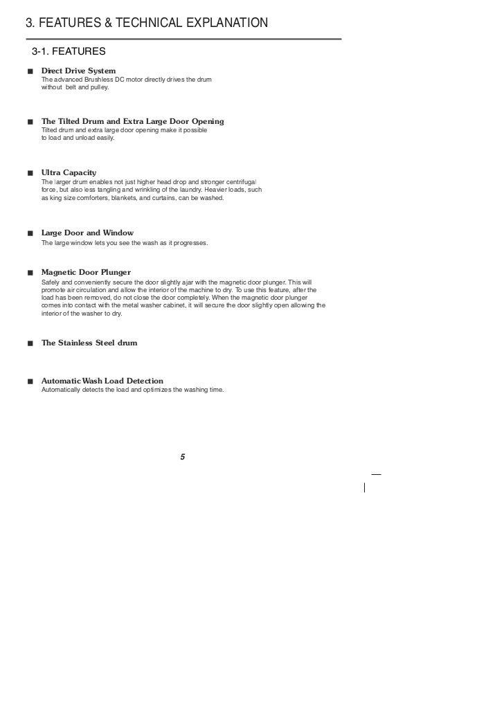 kelvinator washing machine user manual