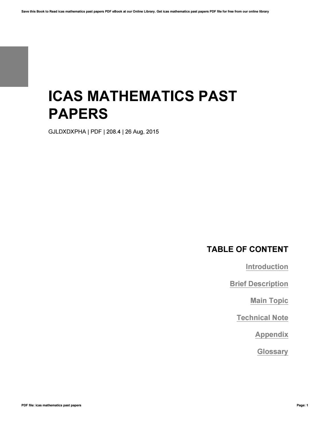 icas past papers pdf download