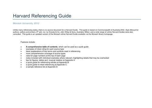 harvard referencing guide otago university