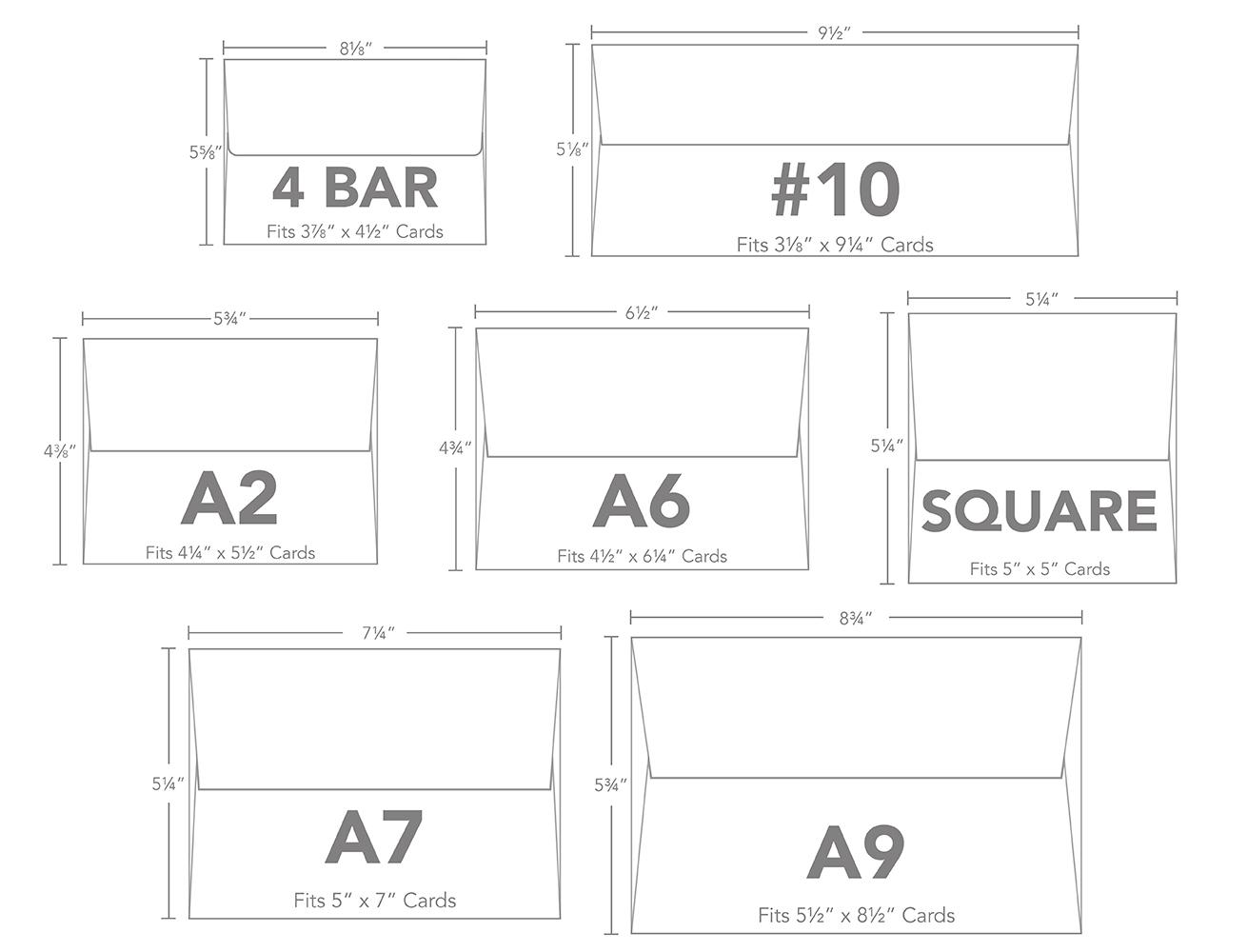envelope size chart pdf