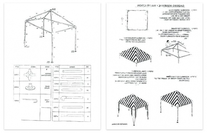 instructions to put up a gazebo