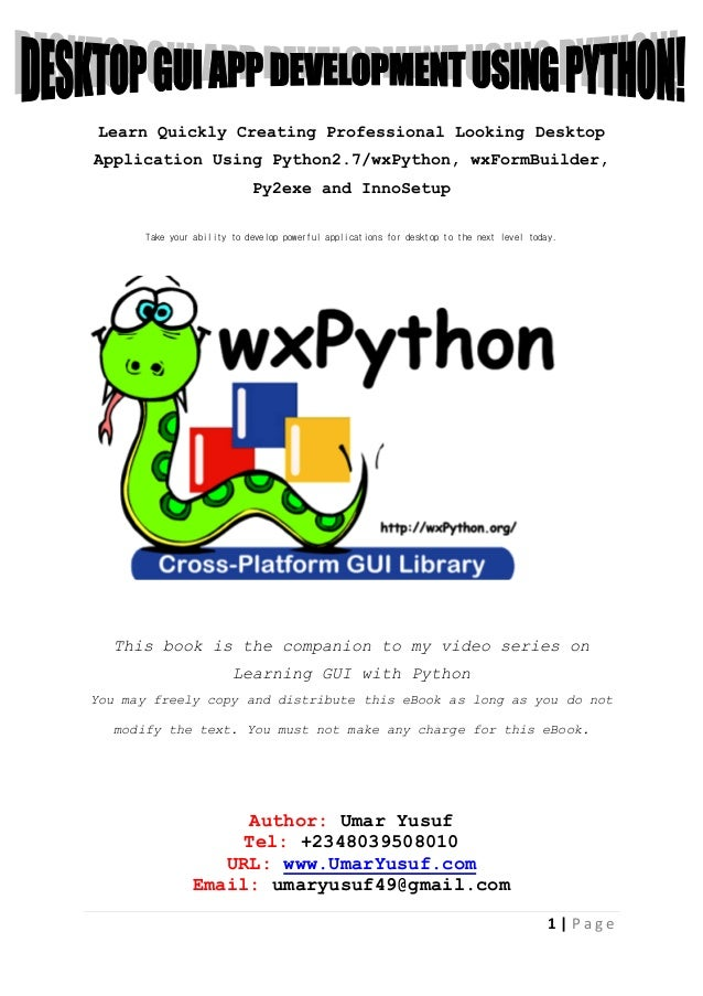 make a web application using python