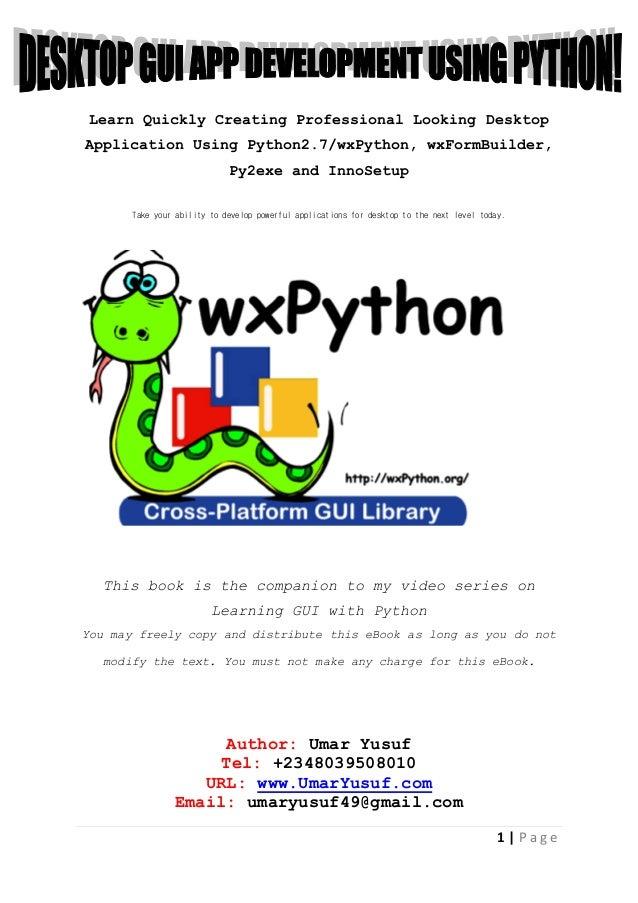 make a web application using python