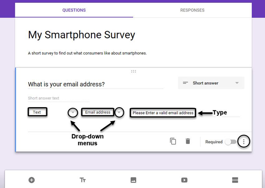 google form survey sample invite