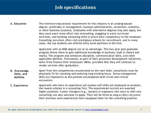 management consultant job description pdf