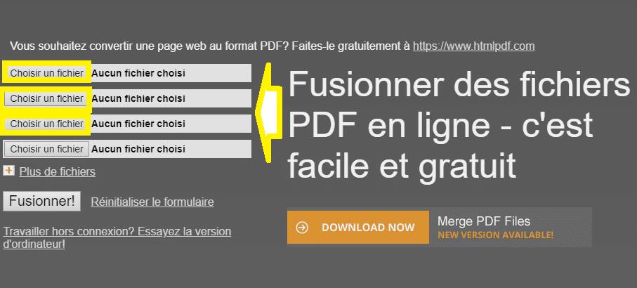 fusionner pdf en ligne