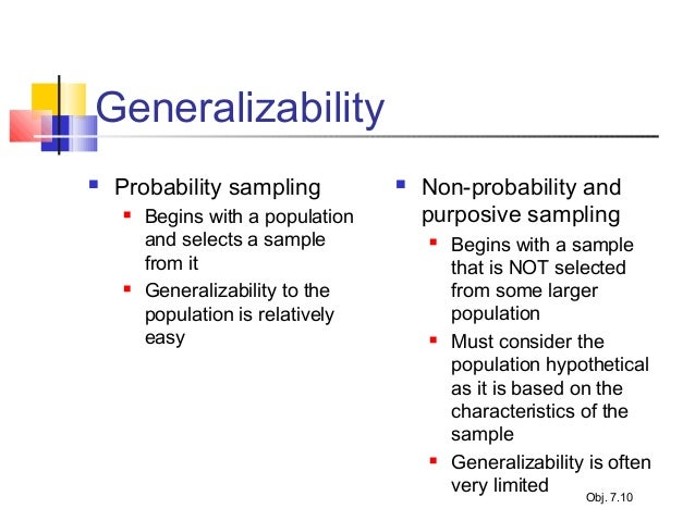 generalizabilty sample size