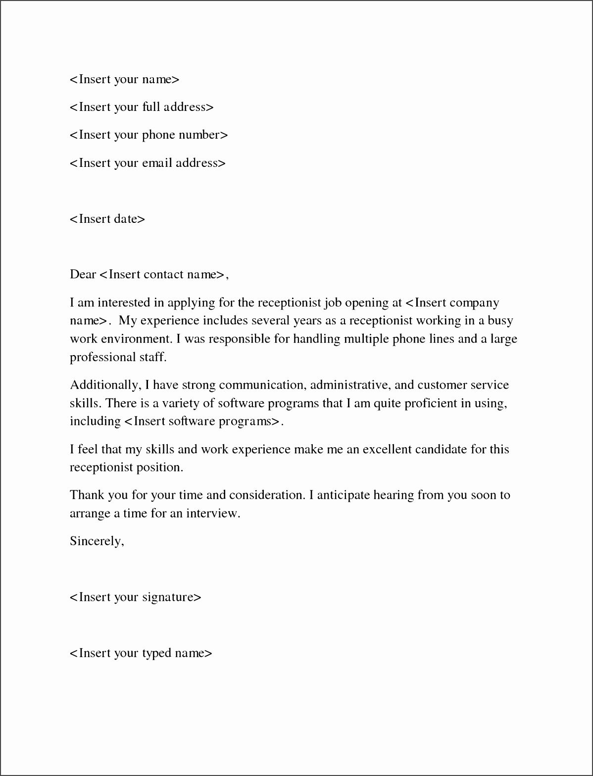 how to write a job application letter with resume