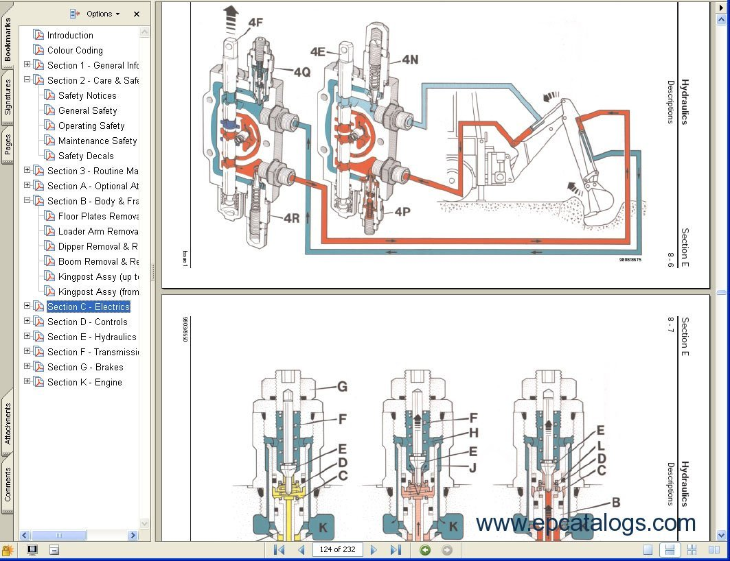excavator service manual free download