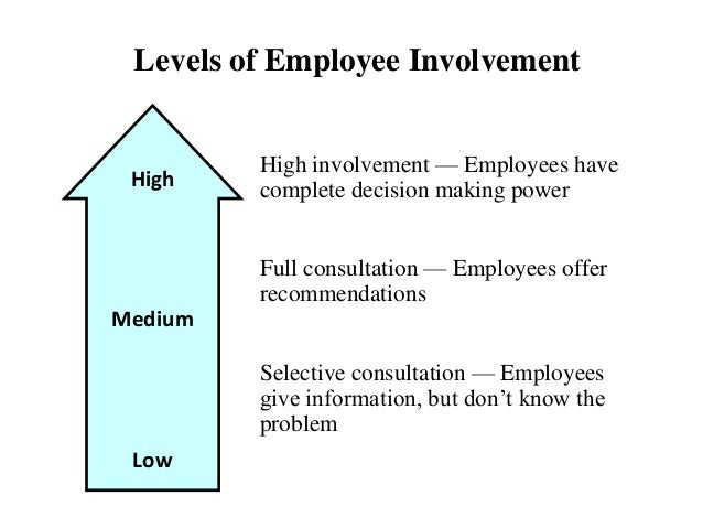 employee involvement in decision making pdf