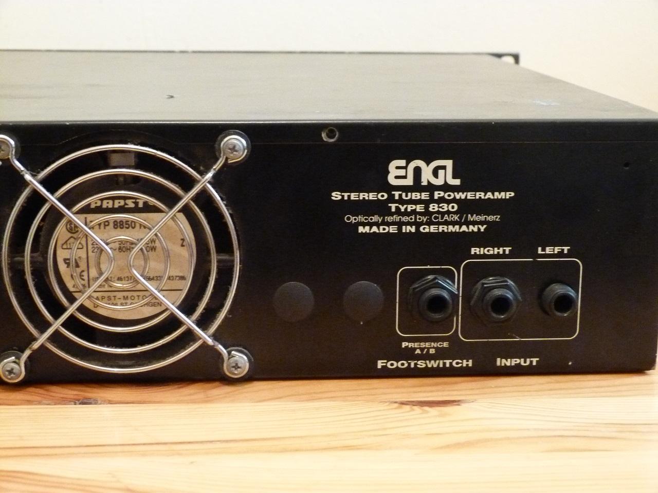 engl tube poweramp e840 50 manual
