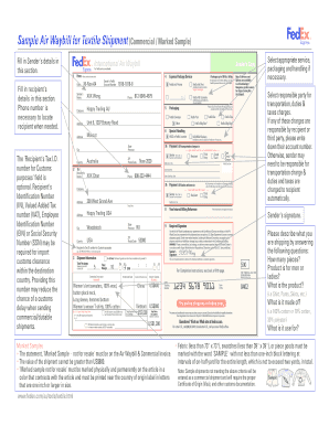 fedex international air waybill blank form pdf