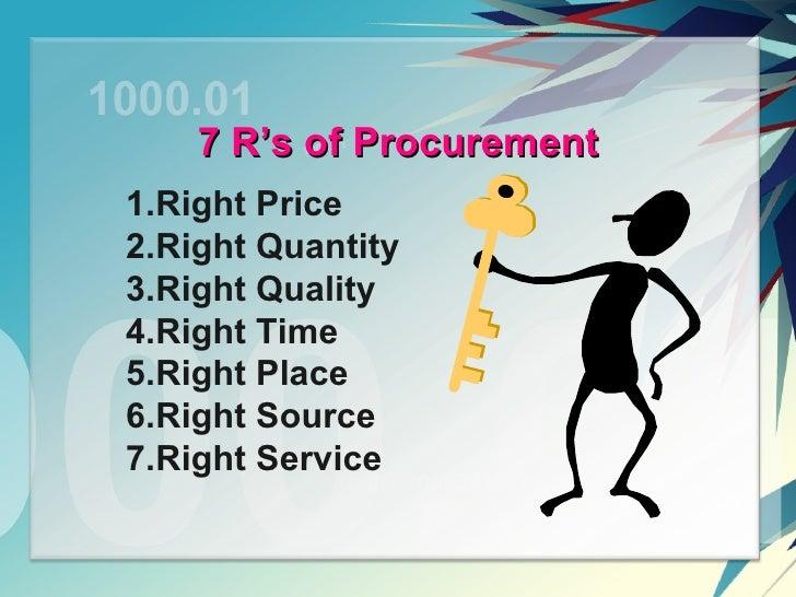 five principles of procurement pdf