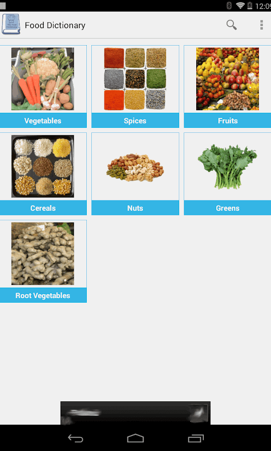 food dictionary app