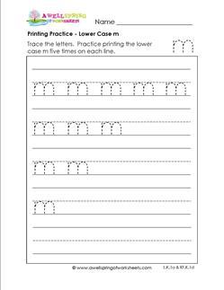handwriting worksheets pdf