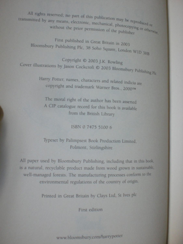 harry potter books in order pdf