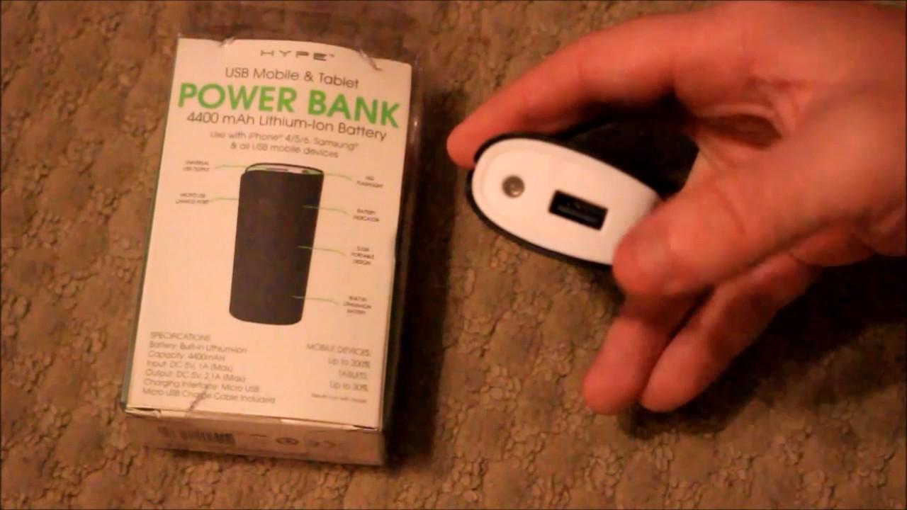 hype 4400mah power bank manual