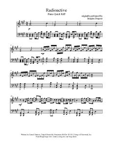 imagine dragons radioactive lyrics pdf