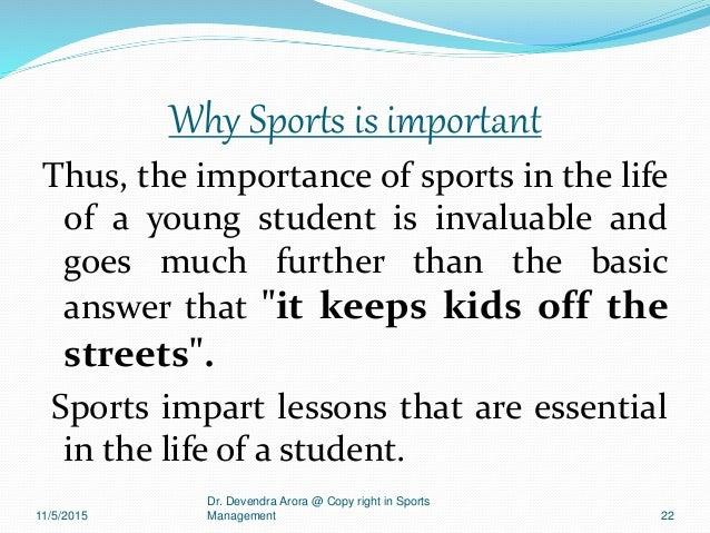 importance of sports management pdf