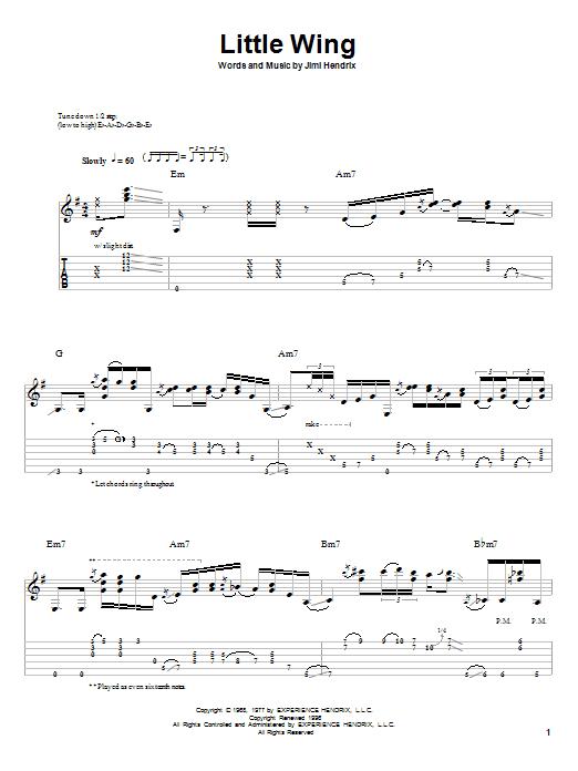 jimi hendrix little wing guitar tab pdf